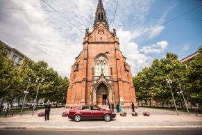 Kostel Jana Amose Komenského. Brno, Czech Republic.